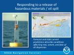 responding to a release of hazardous materials oil spill