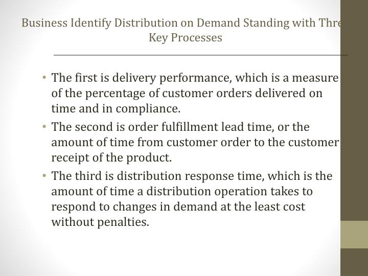Business Identify Distribution on Demand Standing with Three Key Processes