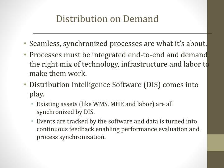 Distribution on Demand