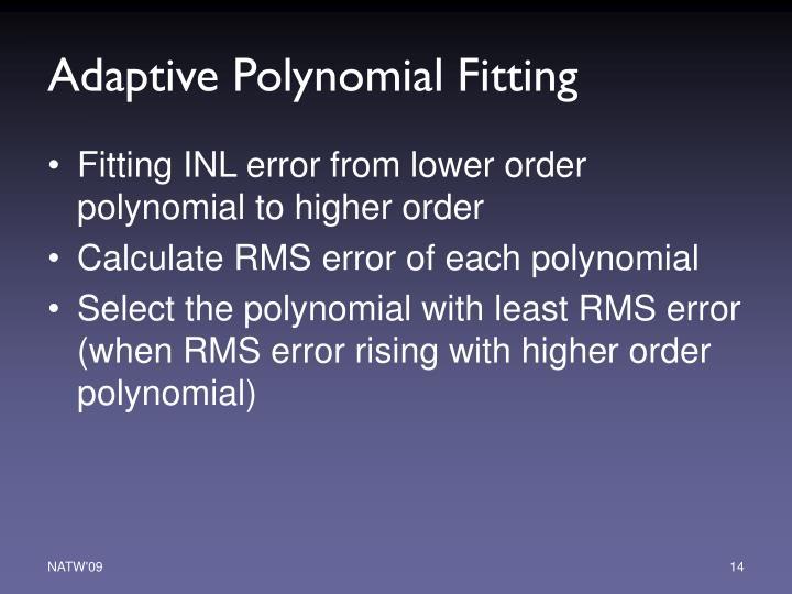 Adaptive Polynomial Fitting