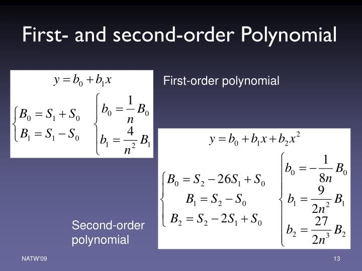 First- and second-order Polynomial