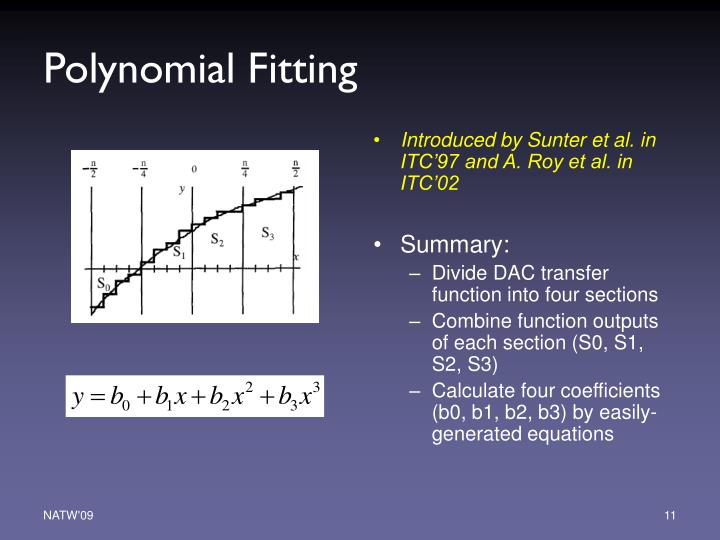 Polynomial Fitting