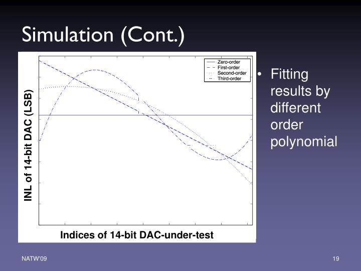 Simulation (Cont.)
