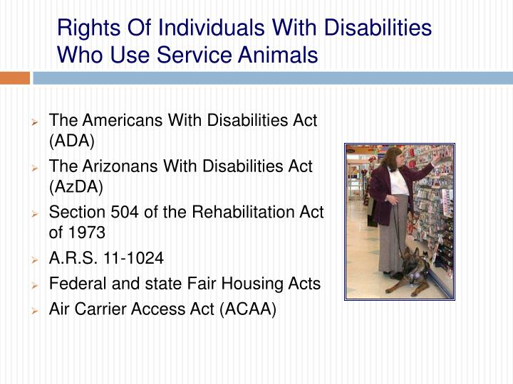 the objectives of the rehabilitation act and the americans with disabilities act 1973 National american university strives to make its programs accessible to all individuals, in compliance with section 504 of the rehabilitation act of 1973 and title iii of the americans with disabilities act of 1990 its purpose is to create and maintain an environment in which students may achieve their.