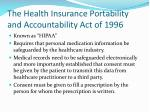 the health insurance portability and accountability act of 1996