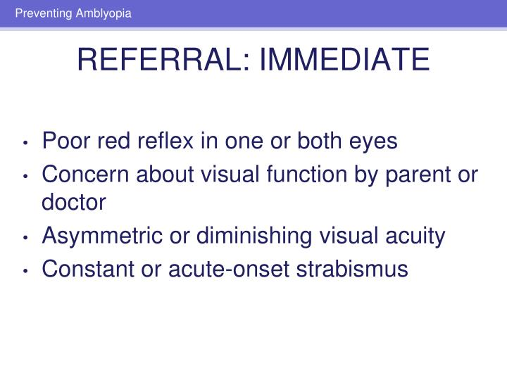 Poor red reflex in one or both eyes