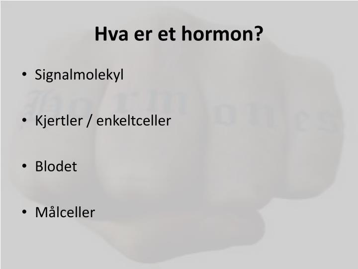 hva er et hormon