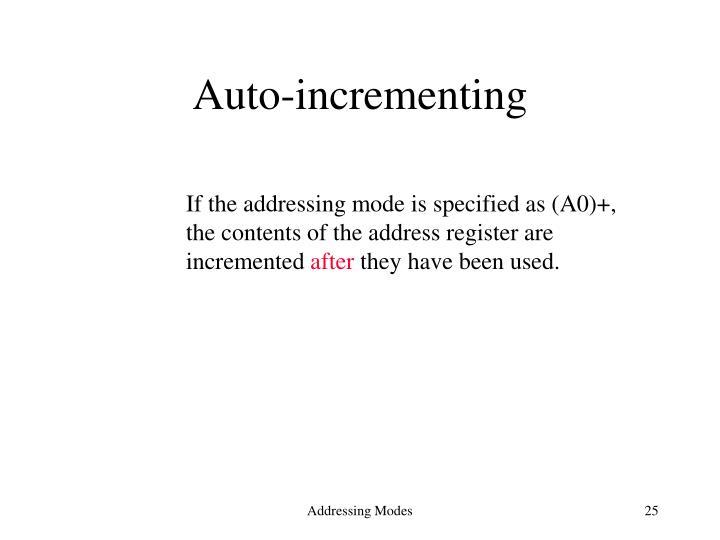 Auto-incrementing