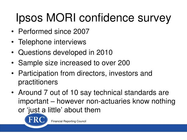 Ipsos mori confidence survey