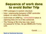 sequence of work done to avoid boiler trip1