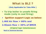 what is bli only applicable for tube mills