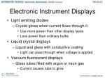 electronic instrument displays