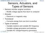sensors actuators and types of sensors
