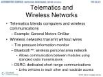 telematics and wireless networks