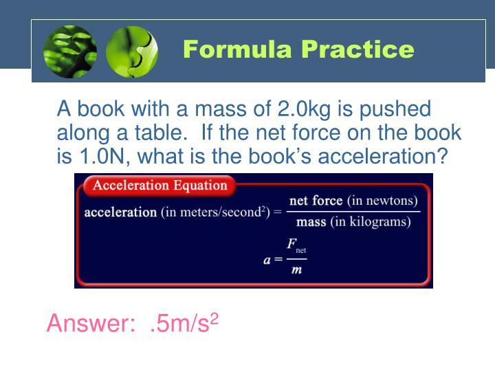 Formula Practice