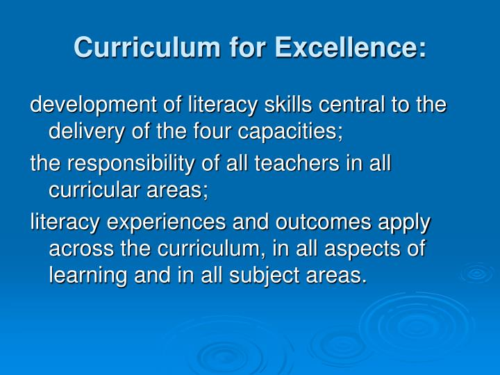 Curriculum for Excellence: