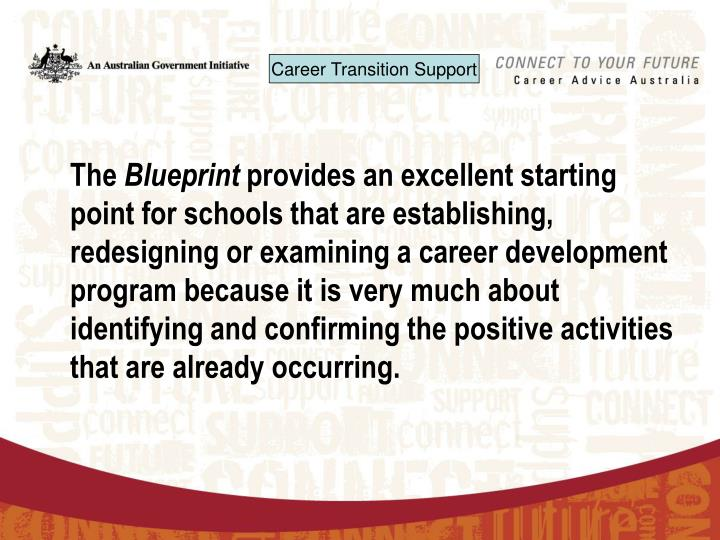 Ppt australian blueprint for career development the blueprint the blueprint provides an excellent starting point for schools that are establishing redesigning or examining a career development program because it is malvernweather Gallery