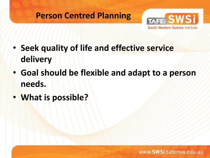 Person centred planning1