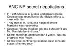 anc np secret negotiations