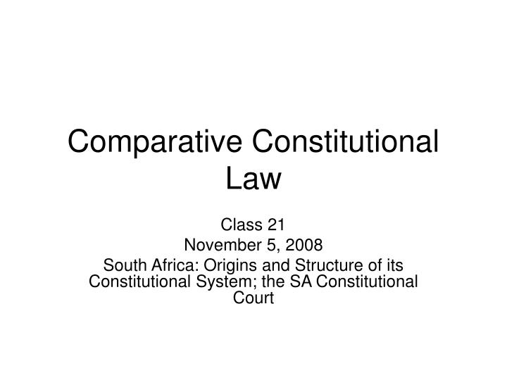 comparative constitutional law n.