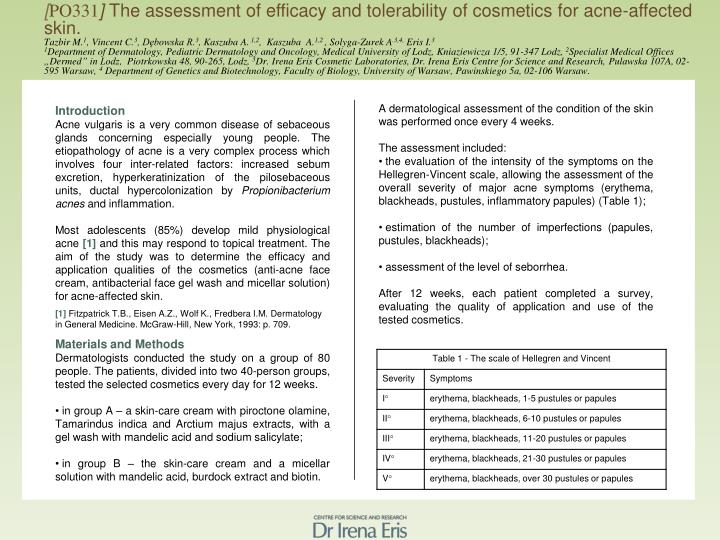 PPT - [ PO331 ] The assessment of efficacy and tolerability