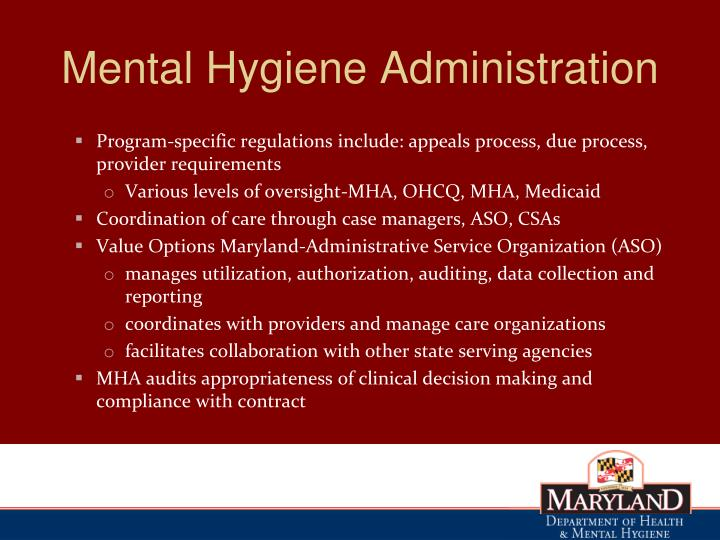Ppt Department Of Health And Mental Hygiene Behavioral Health