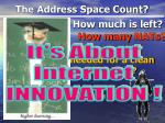 the address space count