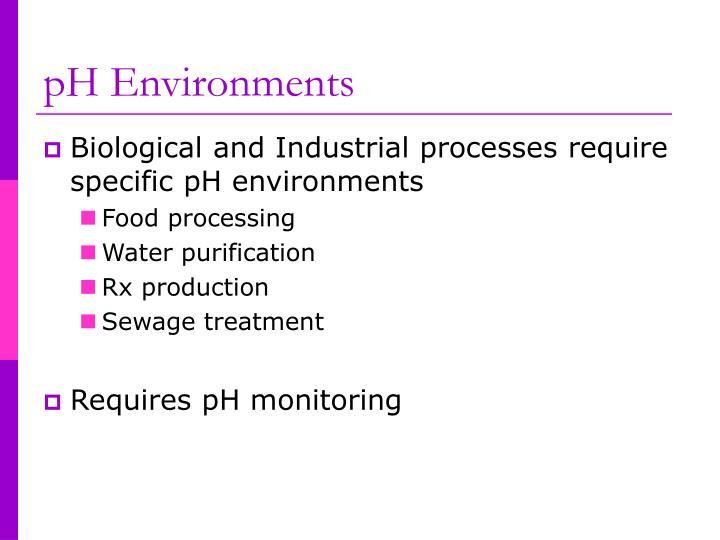 Ph environments