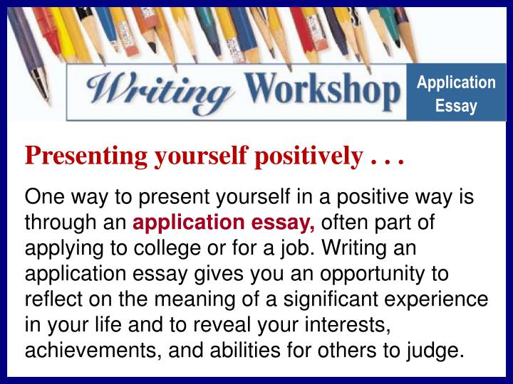 presenting yourself college essay The college application essay is where you can bring your personality to life for college admissions officers here are some important tips to help you get think you can succinctly and accurately present yourself in half a page why not try it and ask your teachers and parents to read it over.