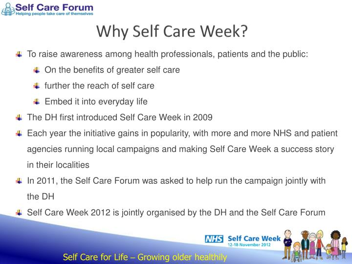 Why self care week