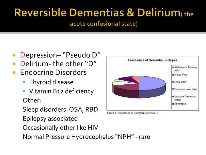 Reversible Dementias & Delirium