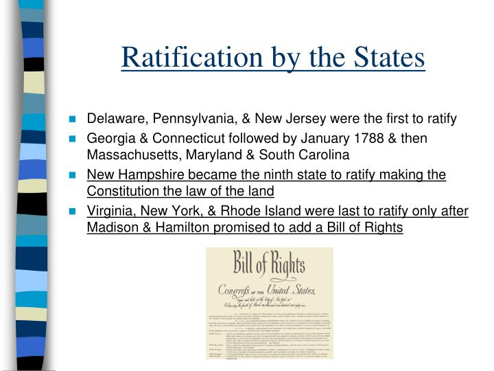 Ratification by the States