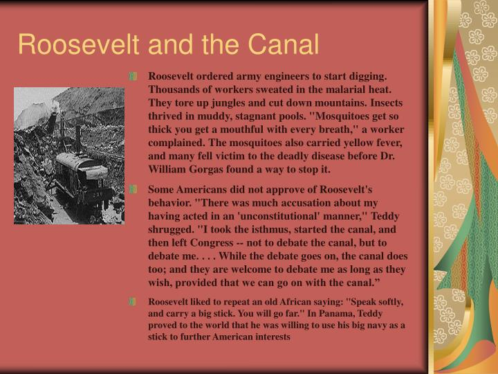 Roosevelt and the Canal