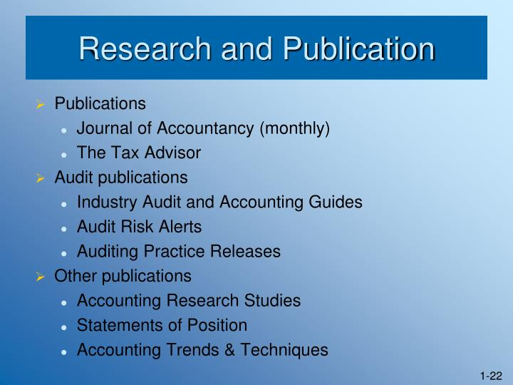 Research and Publication