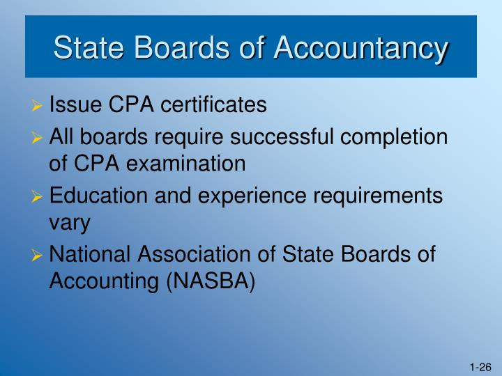State Boards of Accountancy