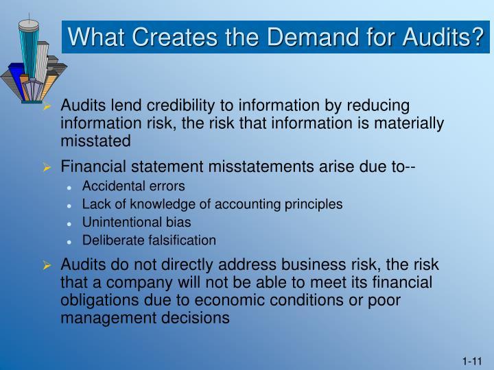 What Creates the Demand for Audits?