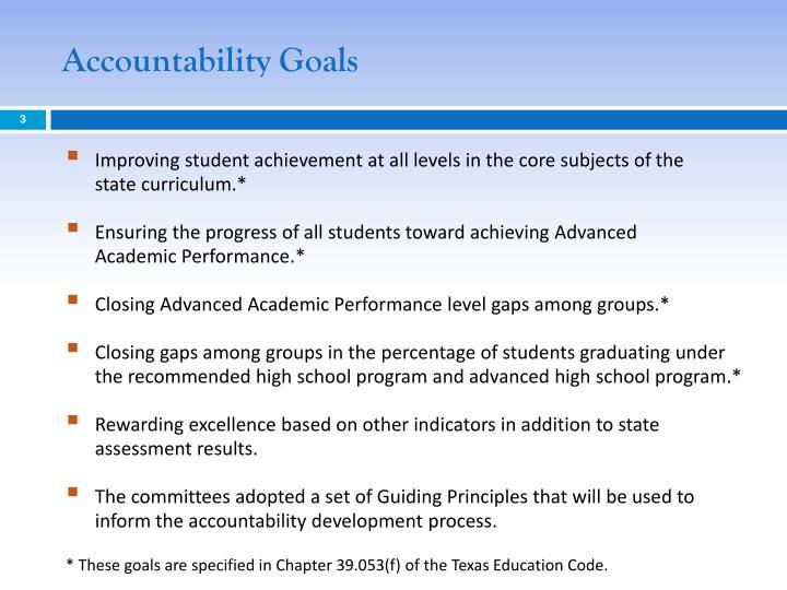 Accountability goals