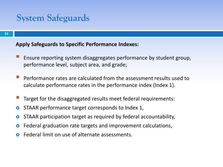 System Safeguards