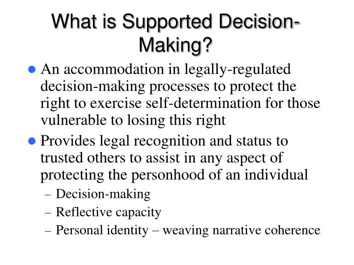 What is Supported Decision-Making?