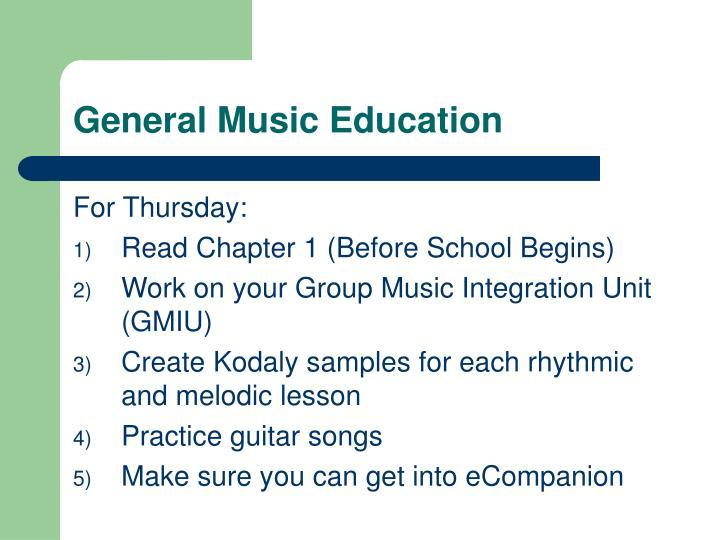 General Music Education