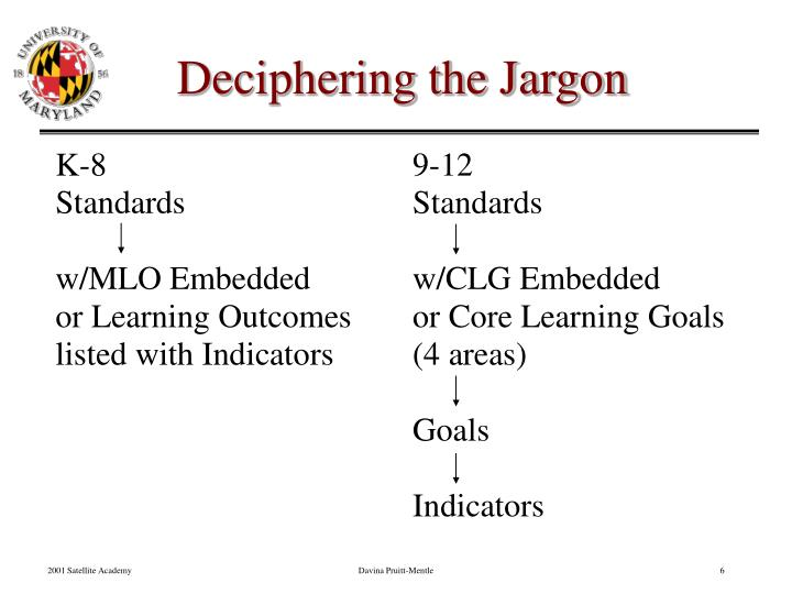 Deciphering the Jargon