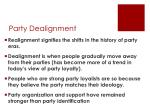 party dealignment