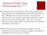 research project due wednesday nov 7 th