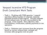 vanpool incentive ntd program draft consultant work tasks2