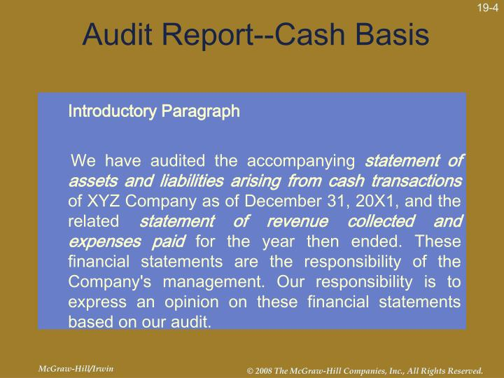 auditing and historical financial information