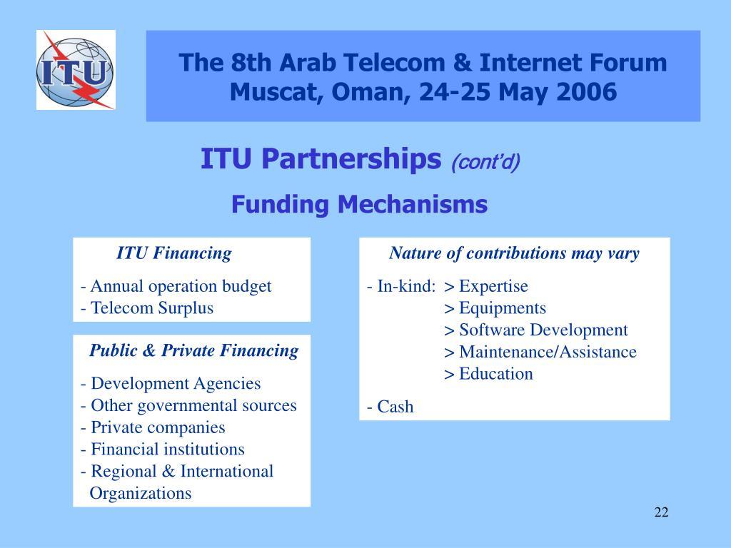PPT - The 8th Arab Telecom & Internet Forum Muscat, Oman, 24