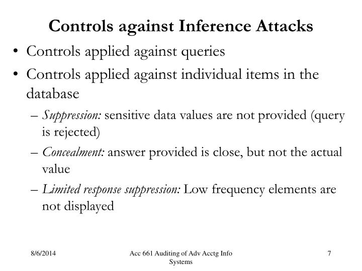 Controls against Inference Attacks