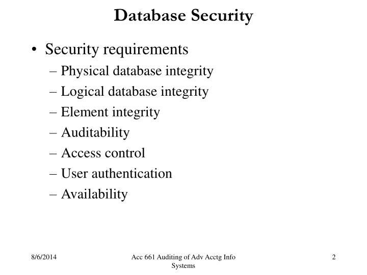 Database security1