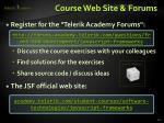 course web site forums