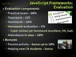 javascript frameworks evaluation